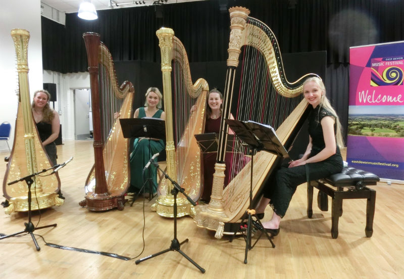 4 Girls 4 Harps - The Beehive East Devon Music Festival